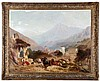 James Duffield Harding (Hardy) (1798-1863) Alpine Landscape, Oil on canvas, laid on board,