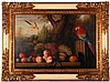 G. Stewart (20th Century) Still Life with Parrot, Oil on canvas,