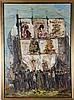 Nate Dunn (1896-1983) Carnival Scene, Oil on canvas,