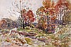 Leslie Cope (1913-2002) Ohio Countryside, Coopermill Rd., Zanesville, Watercolor on paper,