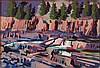 Mark David Gottsegen (1948-2013) Upper Kotenai River Falls 35°F, Libby Mt., 1988, Acrylic on paper on board,