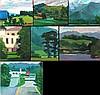 Mark David Gottsegen (1948-2013) Seven Works Depicting Landscapes, Acrylic on board, paper, and canvas,