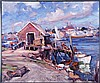 Emile Albert Gruppe (1896-1978) The Lobster Dock, Oil on canvas,
