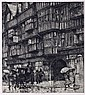 Luigi Kasimir (1881-1962) London, Holborn Houses, Etching,