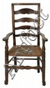An English Oak Ladder Back Armchair, Early 19th Century,