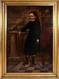 American School (19th Century) Portrait of ? Hayward, Oil on canvas, relined on board.