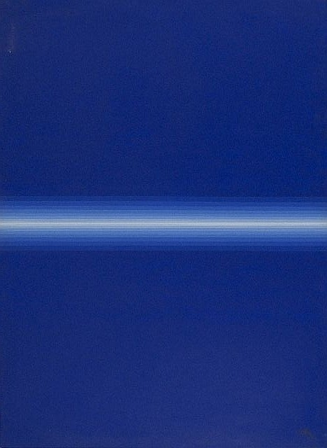 Roy Ahlgren (1927-2011) Blue Divide, Acrylic on canvas,