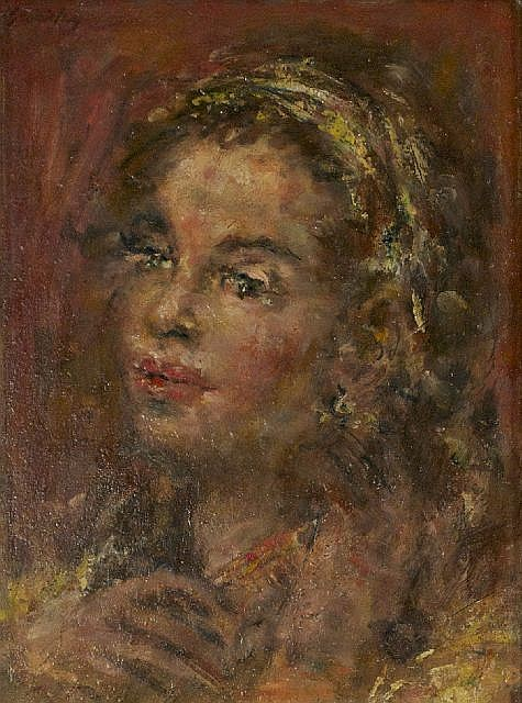 Michael Aloysius Sarisky (1906-1974) Portrait of a Lady, Oil on board,