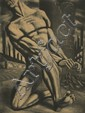 Harry Sternberg (1904-2002) Enough (Bound Man), Aquatint,