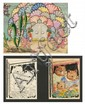 A Pair of Ink and Watercolor Illustrations on Paper Depicting the Three Little Bears by Paul G. Robinson (1898-?),