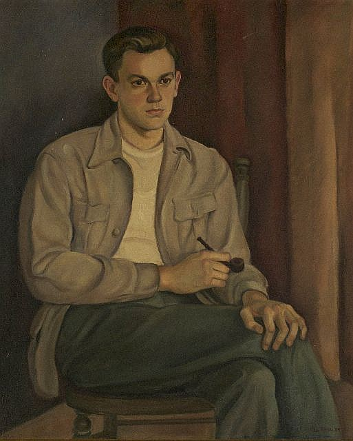 La Reau (20th Century) Portrait of a Man, Oil on canvas,
