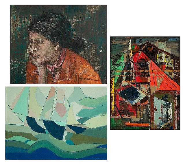 A Group of Three Paintings By John C. Lorence, 20th Century.