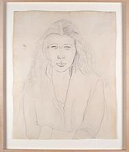 Ellsworth Kelly (American, b. 1923) Portrait of the Artist's Wife, Claudine Hermann Meschers, 1953, Pencil on paper,
