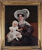 Duvergier (19th Century) Portrait of a Mother and Child, Oil on canvas,