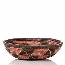 A South American Woven Fiber Bowl, 20th Century.