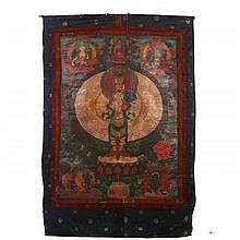 A Tibetan Festival Thangka Depicting Avalokiteshvara, Early 19th Century.