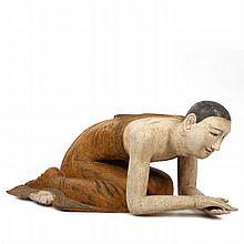 An Indonesian Carved Polychrome Figure, Early 20th Century.