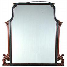 A Queen Anne Style Carved and Painted Mirror, 20th Century.