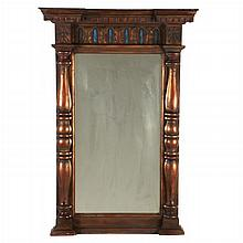 A Federal Style Gilt Carved Mirror, 20th Century.