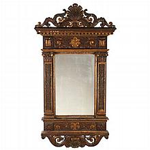 A Rococo Style Gilt Carved Mirror, 19th Century.
