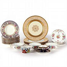 A Miscellaneous Collection of Porcelain Serving Items, 20th Century,