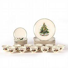 A Set of Twelve Salem Porcelain Plates in the Christmas Eve Pattern by Viktor Schreckengost, 20th Century,