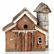 An American Folk Bird House by Dan Shroyer, 20th Century,