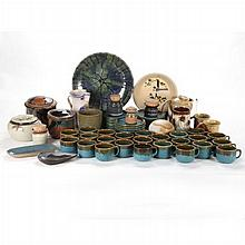 A Miscellaneous Collection of Contemporary Earthenware Pottery, 20th Century.