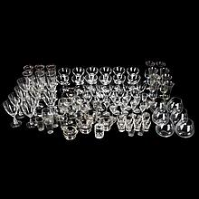A Miscellaneous Collection Clear Glass Stemware and Serving Items, 20th Century,