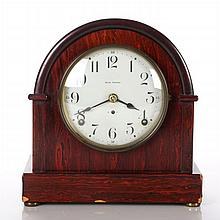 A Seth Thomas Rosewood Veneer Mantle Clock, 20th Century.