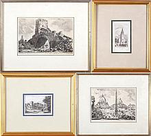 A Collection of Architectural Prints, 19th/20th Century,