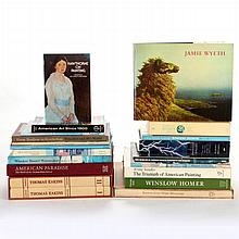 A Collection of Twenty Books Pertaining to American Art and Artists, 20th Century.