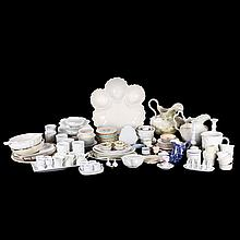 A Miscellaneous Collection of Porcelain, Stoneware, Earthenware and White Glazed Ceramic Decorative and Serving Items, 20th Century,