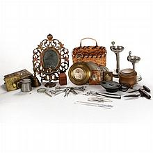 A Miscellaneous Collection of Metal Decorative and Utilitarian Items, 19th/20th Century.