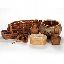 A Miscellaneous Collection of Wicker Baskets, 20th Century.