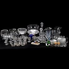 A Miscellaneous Collection of Cut, Etched, Molded and Clear Glass Serving and Decorative Items, 20th Century.