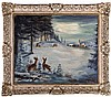 Harry Hoffman (20th Century) Winter Landscape, Oil on canvas,, Harry Zee Hoffman, $50