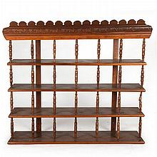 A Victorian Walnut Hanging Display Rack, 19th/20th Century.