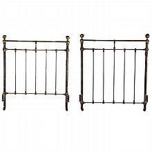 A Victorian Brass and Iron Twin Bed, Early 20th Century.