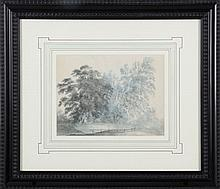 English School (20th Century) Landscape, Watercolor on paper,
