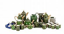 A Porcelain Tea and Coffee Service by S.P.M. Walkure, 20th Century.