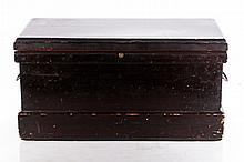 A Diminutive American Stained Pine Chest, 19th Century,