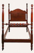 A Georgian Style Mahogany Child's Bed, 20th Century.