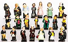 A Collection of Twenty-One Diminutive Royal Doulton Charles Dickens' Figurines, 20th Century,