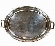 A Meriden Britannia Co. Sterling Silver Tray in the Madame D'Arblay Pattern, 20th Century.