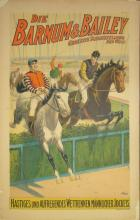 Barnum and Bailey Mannlicher Jockeys vintage poster