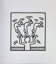 Keith Haring, one plate from