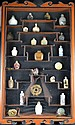 Set of Snuff Bottles in Wooden Display Case