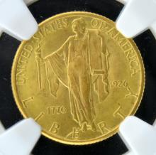 1926 $2.5 America Sesqui Gold Coin NGC MS 65
