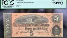 1864 $5 T-69 CSA Richmond, VA PCGS CAN 55 PPQ